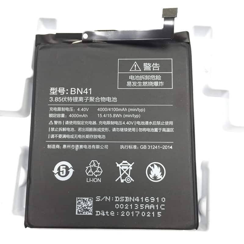 Batería original de 4100mAh para movil chino Xiaomi Redmi Note 4