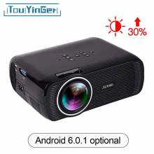 Proyector 1800 Lúmenes soporte Full HD 1080 p reproductor Multimedia de Vídeo LCD Hdmi 3D con soporte
