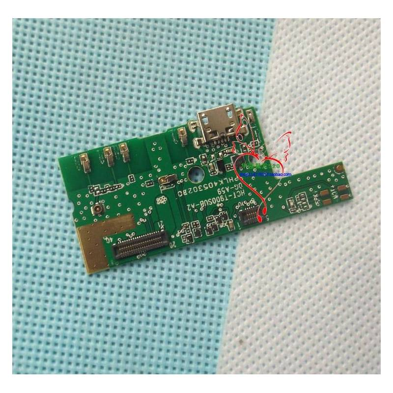 Repuesto placa USB cargador de enchufe para movil chino DOOGEE MIX