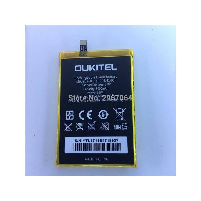 Bateria original 5000 de reemplazo para movil chino OUKITEL K5000