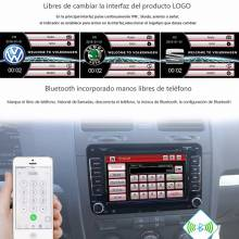 "Reproductor multimedia coche de 7"" 2 din radio reproductor para wolkswagen, passat, polo, golf, skoda, Seat, Altea, Toledo, Leon"