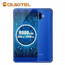 Movil chino Oukitel K8000 pantalla 5.5 pulgadas LCD HD 8000 mAh batera procesador MT6750T Android 70 4G LTE