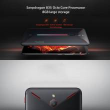 """Movil chino ZTE Nubia Red Magic de 6"""" ocho nucleos con 8 GB RAM 128 GB ROM android 8 ideal Gamers"""
