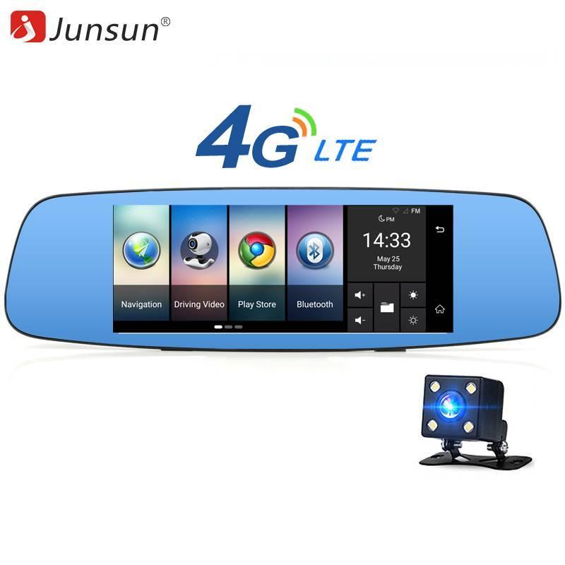 "Retrovisor con camara Junsun A800 4G DVR con espejo de 7"" Android 5.1 GPS"