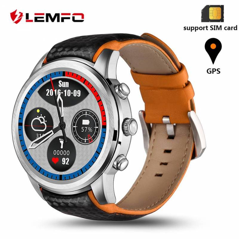 Reloj inteligente LEMFO LEM5 hombres impermeable Android 5,1 Bluetooth Wifi 3G GPS App