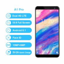 Movil chino Umidigi A1 Pro versión Global Dual 4G LET 18:9 Pantalla Completa 3 GB 16 GB 3150 Mah android 8,1 Face ID 13MP MT6739