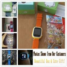 Reloj inteligente Q90 con GPS para niños pantalla 1,22 pulgadas táctil WIFI