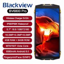 "Movil chino Blackview BV6800 Pro IP68 impermeable 4 GB + 64 GB pantalla 5,7"" Android 8,0 bateria 6580 mAh NFC"