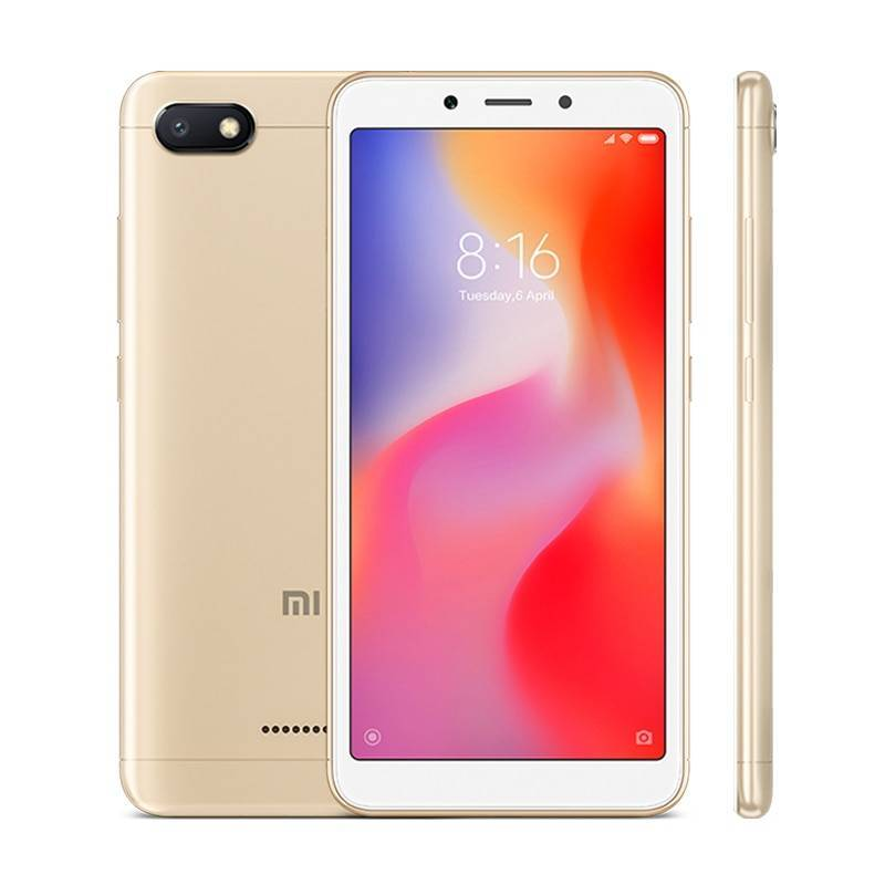 Movil chino Global Xiaomi Redmi 6A 2 GB 16 GB MTK Helio A22 Quad Core pantalla 5,45 pulgadas