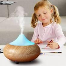 Humidificador ultrasónico de aceite esencial para el hogar con lámpara LED aromaterapia