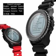 Reloj inteligente Makibes G07 GPS impermeable buceo múltiples deportes modo GPS del ritmo cardíaco Bluetooth Smartwatch