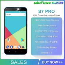 "Movil chino Ulefone S7 Pro 2 GB RAM 16 GB ROM 3G WCDMA MTK6580 pantalla 5,0"" HD 13MP GPS Android 7,0"