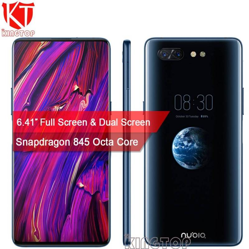 "Movil chino ZTE Nubia X pantalla Dual 6,26 ""+ 5,1"" 6 o 8 GB + 64 o 128 GB Snapdragon 845 Octa Core camara 16 + 24 MP"