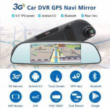 "Retrovisor con camara Junsun E515 3G DVR con espejo de 6.86"" Android 5.1 GPS"