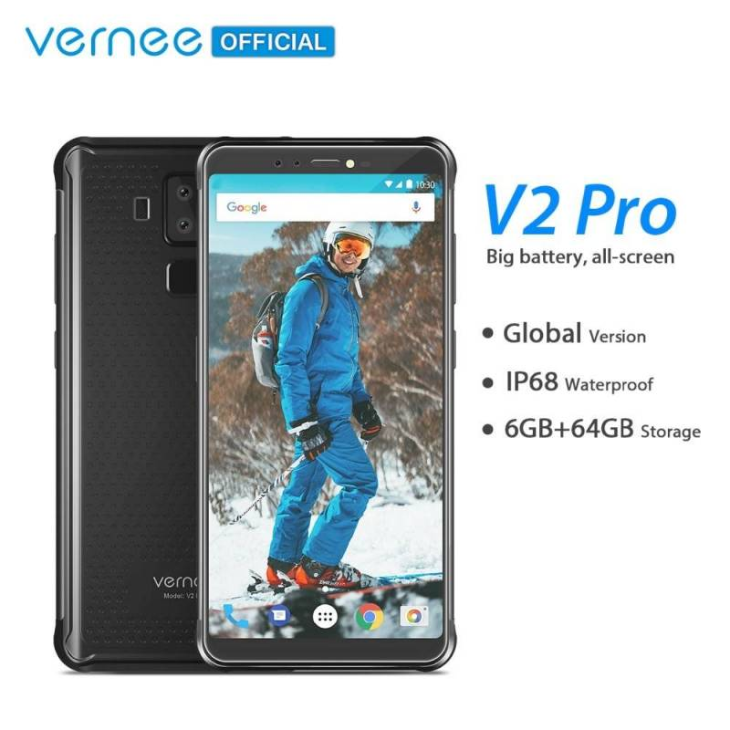 Movil chino Vernee V2 Pro IP68 impermeable pantalla 5.99 FHD Face ID Red Mundial 6 GB 64 GB bateria 6200 mAh