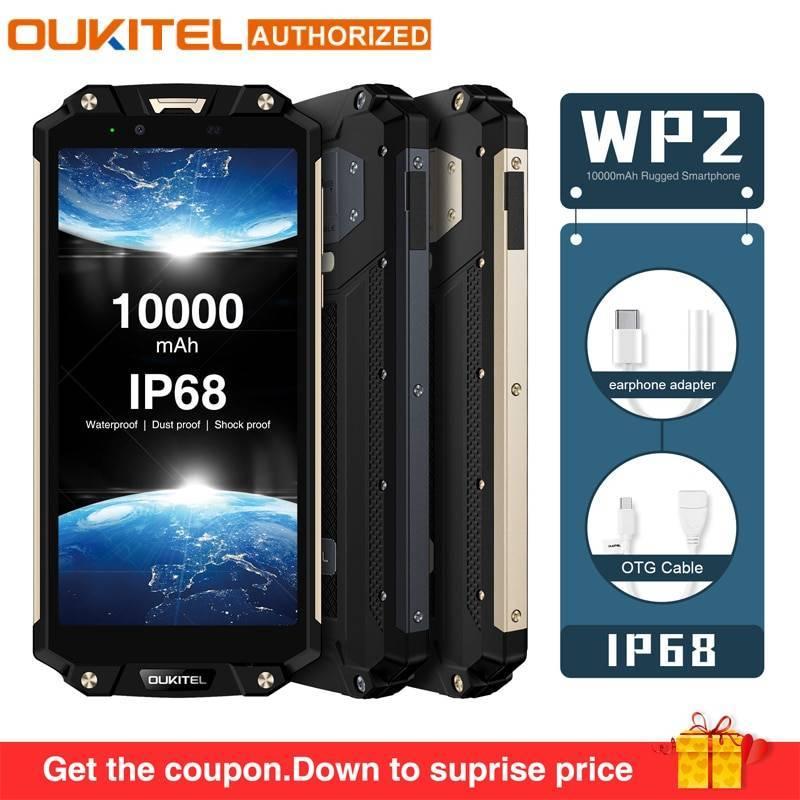 Movil chino OUKITEL WP2 IP68 impermeable a prueba de golpes 4G RAM 64G ROM bateria 10000 mAh
