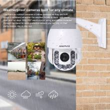 Camara de vigilancia Anpviz 1080p IP domo al aire libre impermeable 2MP 2,8-12mm motorizado 4X Zoom domo de velocidad CCTV