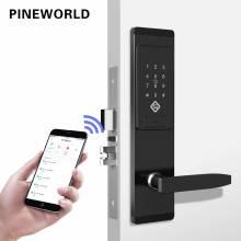 Cerradura electronica de seguridad inteligente con pantalla táctil aplicación WIFI, teclado código digital para hogar