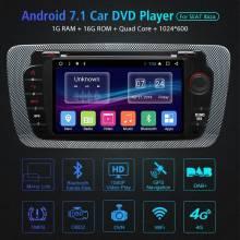 Reproductor multimedia Din 2 Android 7.1 DVD y DVD de coche para Seat Ibiza 2009-2015 Navegación GPS WIFI Bluetooth