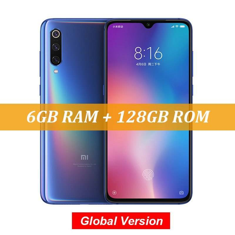 "Movil chino Xiaomi Mi 9 Global Version con Snapdragon 855 Octa Core 6GB 128GB pantalla 6.39"" AMOLED"