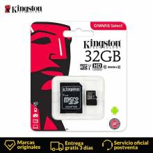 Tarjeta micro sd Kingston de 32 GB Class 10 UHS-1 flashMicro SDHC TF/SD para moviles tablets gps