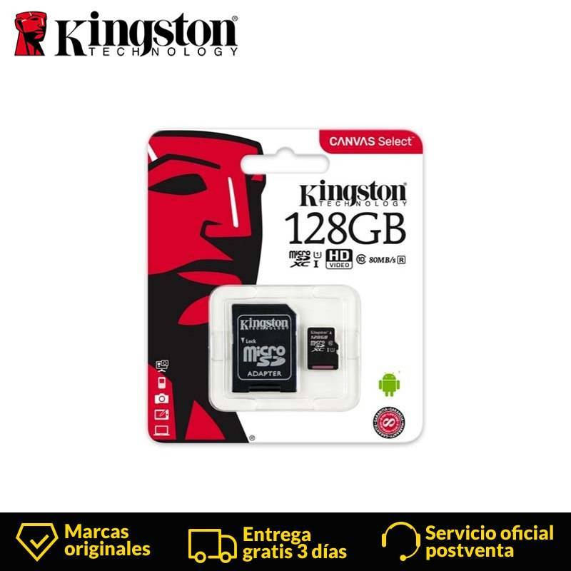 Tarjeta micro sd Kingston clase 10 de 128 GB Micro SDXC UHS-I