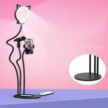 Soporte para móvil con luz de anillo selfie con o sin clip para microfono