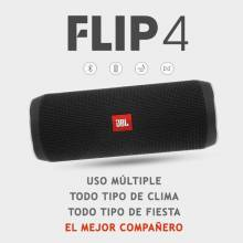 Altavoz Bluetooth JBL Flip 4 Wireless Portable IPX7 a prueba de agua surround color negro