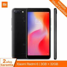 Movil chino Xiaomi Redmi 6 Versión global 3GB 32GB MTK Helio P22 Octa Core CPU pantalla 5.45 Pulgadas camaras 12MP + 5MP