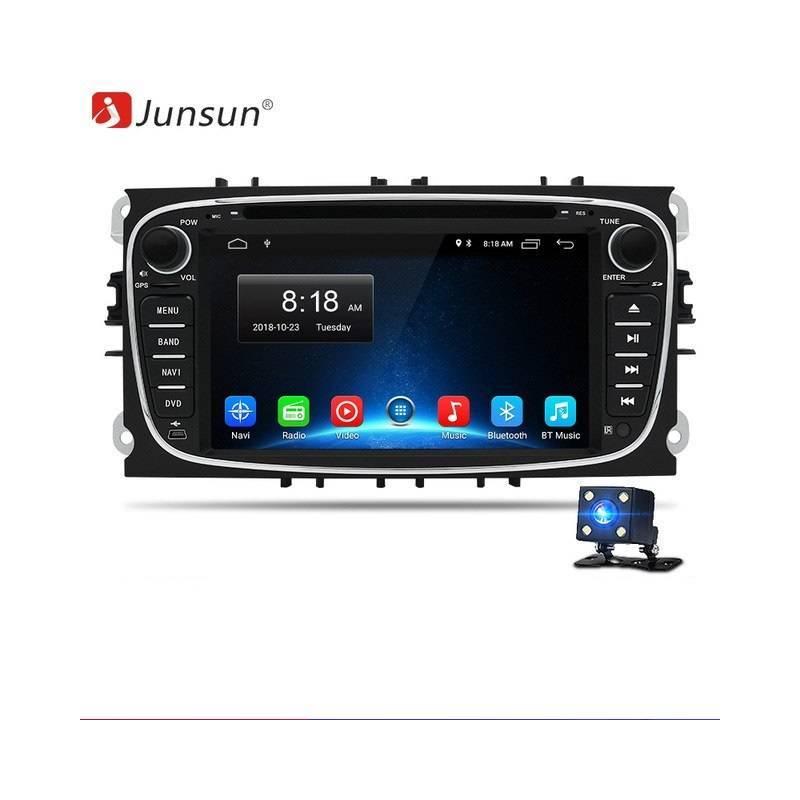 Reproductor multimedia Junsun Android 8.1 GPS 2 Din Car DVD para Ford Focus 2/Kuga 2/S-MAX/Mondeo 4/C-MAX/Galaxy WIFI IPS