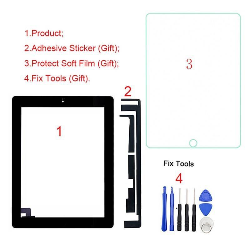 Pantalla táctil digitalizadora de reemplazo para tablet iPad 2 2nd Gen A1395 A1396 A1397 97