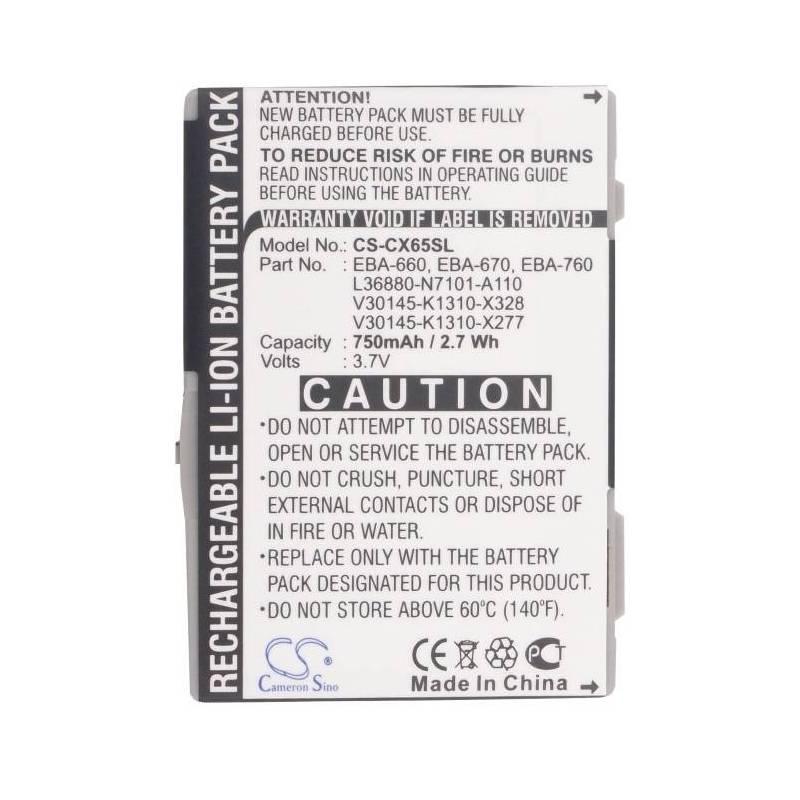 Bateria original de750 mAh para movil para Siemens CXI70, CXT65, CXT70, CXV65, CXV70, M65, M75, M8, S65, S65V, S66, S75