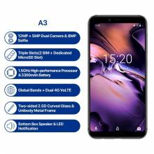 "Movil chino UMIDIGI A3 Global Band pantalla 5.5 "" HD + display 2GB + 16GB Quad core Android 8.1 12MP + 5MP 4G"