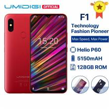 "Movil chino UMIDIGI F1 Android 9,0 pantalla 6,3"" FHD + 128GB ROM 4 GB RAM Helio P60 bateria 5150 mAh 16MP + 8MP"