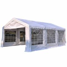 Carpa de jardín gazebo 6x4m pergola cenador 4 paneles laterales 6 ventanas
