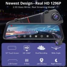 """Retrovisor Junsun H16 nueva tecnología 2.5D FHD 1296 P cámara 10 """"IPS monitor de estacionamiento de visión nocturna"""
