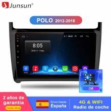 Reproductor multimedia Junsun 2 + 32G Android 8,1 wifi 2 din GPS de navegación para Volkswagen VW POLO 2009-2018