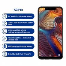 "Movil chino UMIDIGI A3 Pro Android 8,1 de pantalla 5,7"" 3 GB + 32 GB 12MP + 5MP 4G doble desbloqueo facial"
