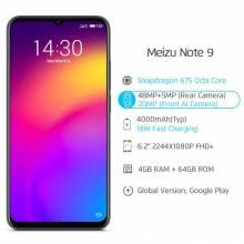 "Movil chino Meizu Note 9 4GB 64GB Snapdragon 675 Octa pantalla 6.2"" camara 48MP y 20MP bateria 4000mAh"