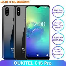 Movil chino OUKITEL C15 Pro 2,4G/5G WiFi 4G LTE Android 9,0 MT6761 2 GB 16 GB