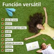 Césped artificial tipo alfombra o estera de hierba sintética de exterior para jardín y terraza