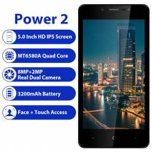"Movil chino LEAGOO POWER 2 Android 8,1 de pantalla 5,0 "" HD IPS 2 GB RAM 16 GB ROM MT6580A Quad Core doble cámara 3G"