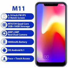 "Movil chino LEAGOO M11 2 GB 16 GB con Android 8,1 de 6,18 ""MTK6739 Quad Core bateria 4000 mAh 4G"