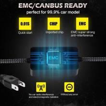 2 Bombillas LED H7 de faro CSP Chip LED 50 W H11 Mini HB3 HB4 línea de corte 12V 24V