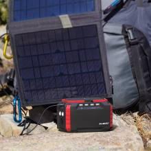 Estacion de carga Suaoki S270 portátil generador Solar 150Wh con 2AC y 4DC y salto de arranque