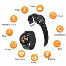 Reloj inteligente Azorex impermeable para deportes IP67 redondo actividad pulsera correa de silicona o Metal