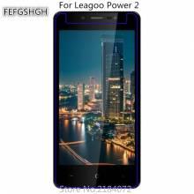 2 unidades de protector de pantalla vidrio templado de alta calidad para movil chino Leagoo Power 2