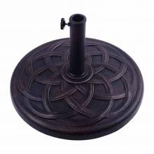 Base ideal para sombrilla de pie para parasol de color bronce y de resina con medidas Φ57x35cm