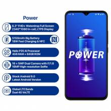 "Movil chino Umidigi power pantalla 6.3"" 4GB 64 ROM Octa Core Android 9.0 16MP + 16MP NFC 4g Bateria 5150mAh"