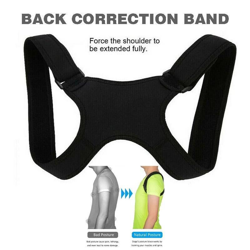 Corrector unisex de postura para hombro y cuello con soporte espalda alisado y ajustable